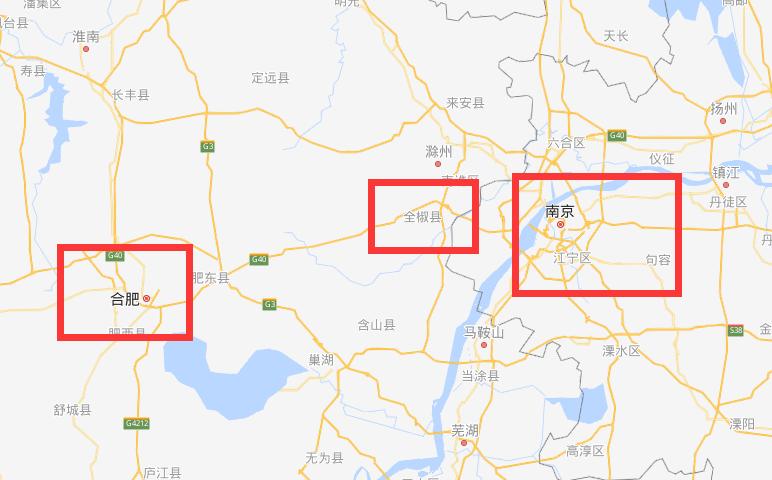 全椒县区域图